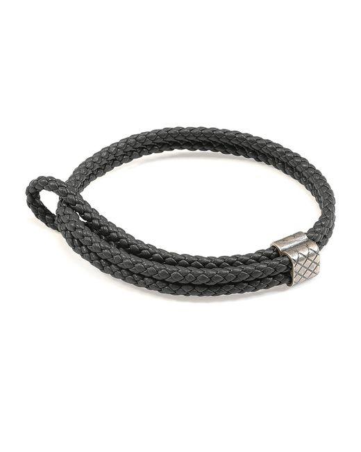Bottega Veneta - Gray Men's Woven Leather Bracelet for Men - Lyst