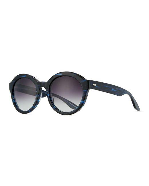 Barton Perreira | Blue Carnaby 55 Midnight Smolder Round Sunglasses | Lyst