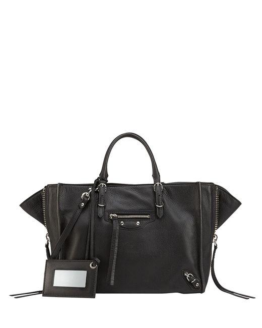 Balenciaga - Black Papier A6 Zip Around Tote Bag - Lyst