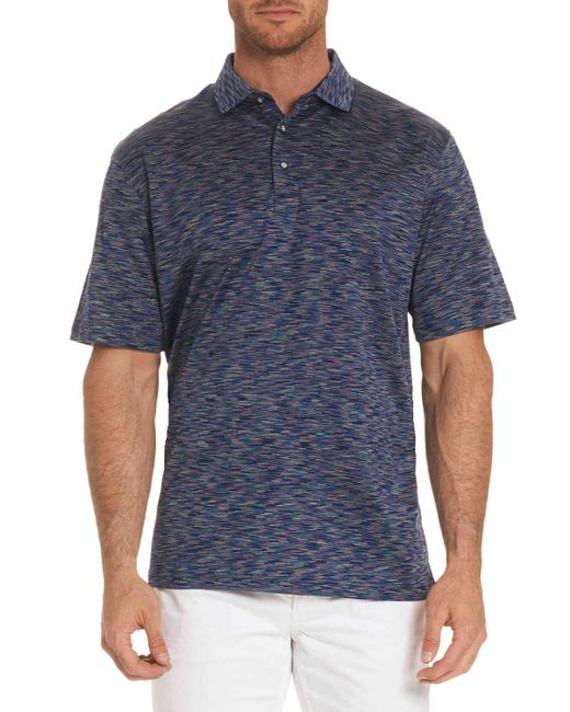 Robert Graham - Blue Raul Illusion-pattern Polo Shirt for Men - Lyst