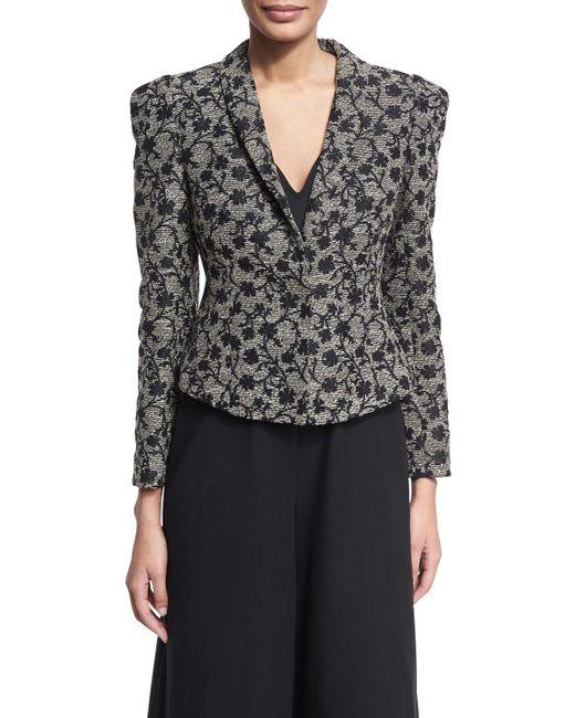 Co. - Black Floral Jacquard Structured Jacket - Lyst