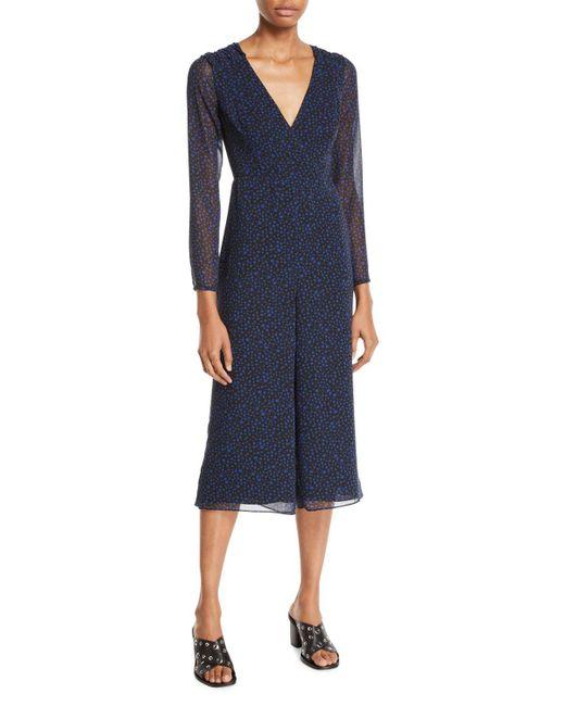 Fame & Partners - Blue Chaset V-neck Jumpsuit - Lyst