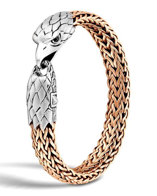 John Hardy | Metallic Men's Silver/bronze Eagle Head Chain Bracelet for Men | Lyst