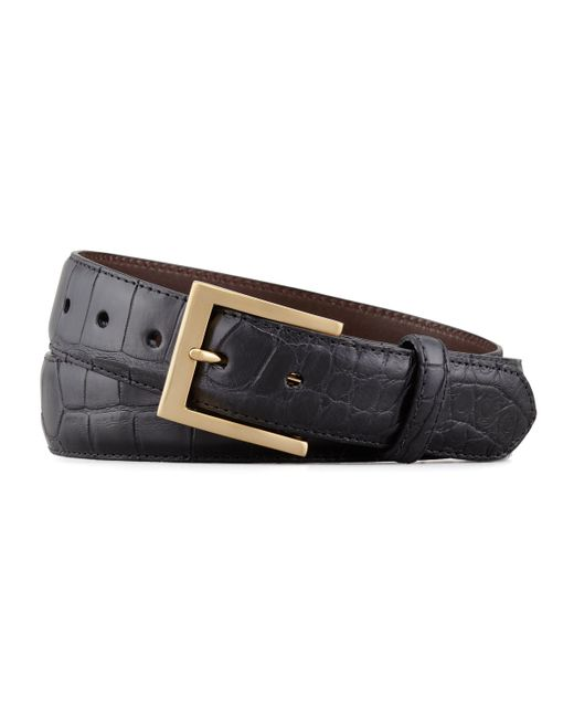 W. Kleinberg | Black Matte Alligator Belt for Men | Lyst