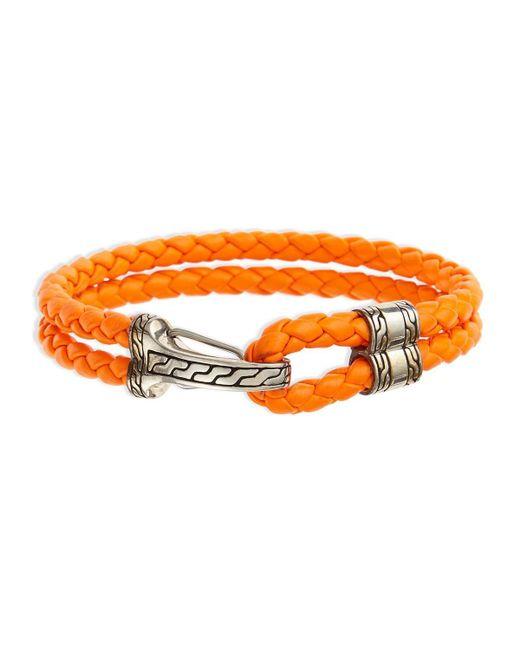 John Hardy   Orange Classic Chain Men's Hook-station Bracelet for Men   Lyst