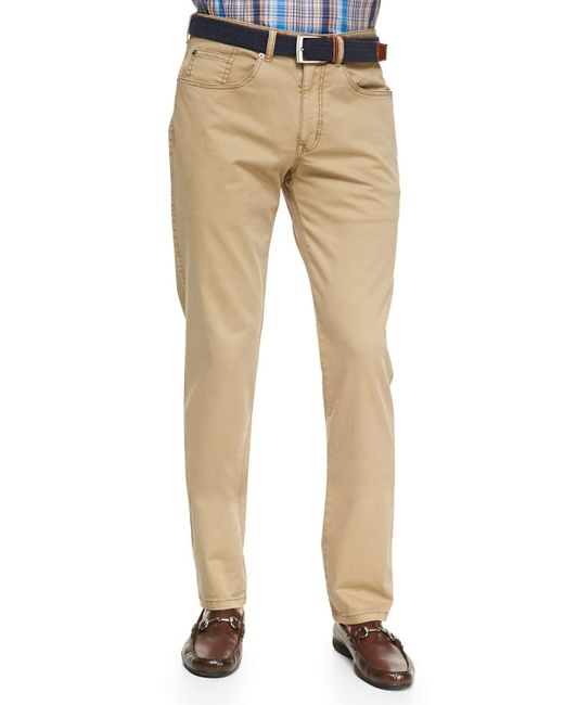 Peter Millar | Natural Stretch Five-pocket Twill Pants for Men | Lyst
