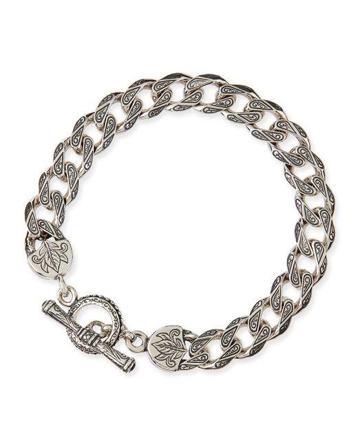 Konstantino | Metallic Men's Sterling Silver Flat Link Bracelet for Men | Lyst