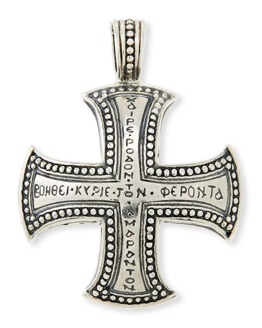 Konstantino | Metallic Men's Dare Sterling Silver Cross Pendant | Lyst
