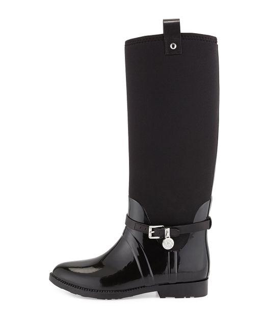 Michael michael kors Charm Stretch Rain Boot in Black ...