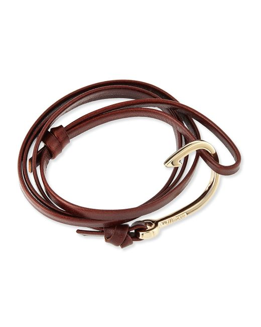 Miansai | Brown Hook Leather Bracelet | Lyst