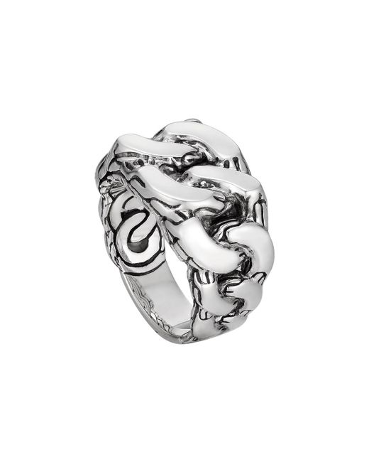John Hardy | Metallic Men's Classic Chain Gourmette Silver Ring for Men | Lyst