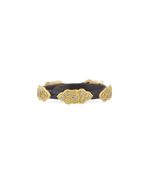 Armenta | Black Stackable Champagne Diamond Scroll Ring for Men | Lyst