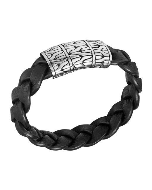 John Hardy   Metallic Men's Extra-large Classic Chain Braided Bracelet for Men   Lyst