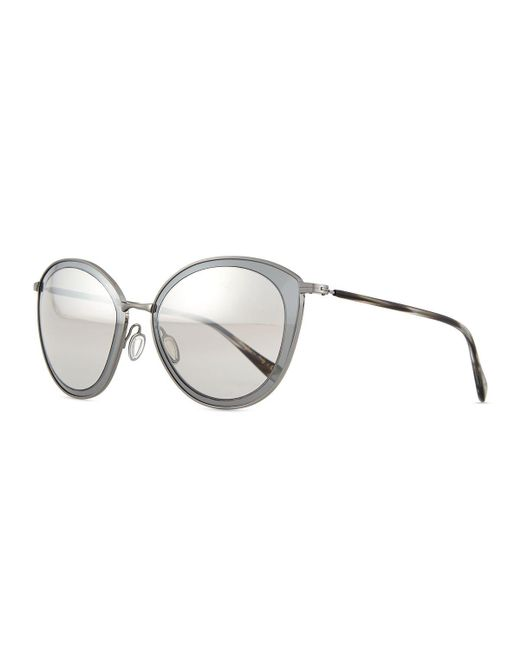 Oliver Peoples | Metallic Gwynne Lens-in-lens Mirror Sunglasses | Lyst