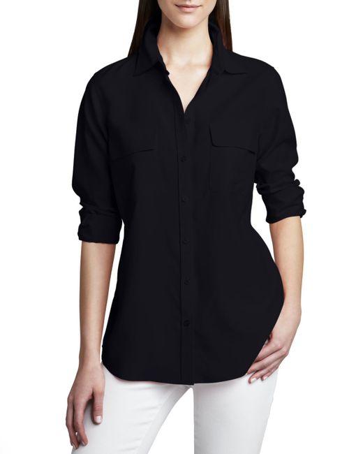 Go> By Go Silk   Blue Safari Long-sleeve Silk Shirt   Lyst