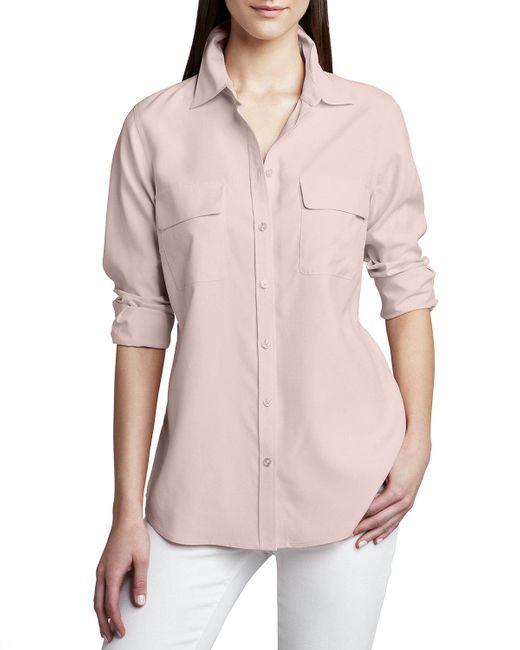 Go> By Go Silk | Pink Safari Long-sleeve Silk Shirt | Lyst