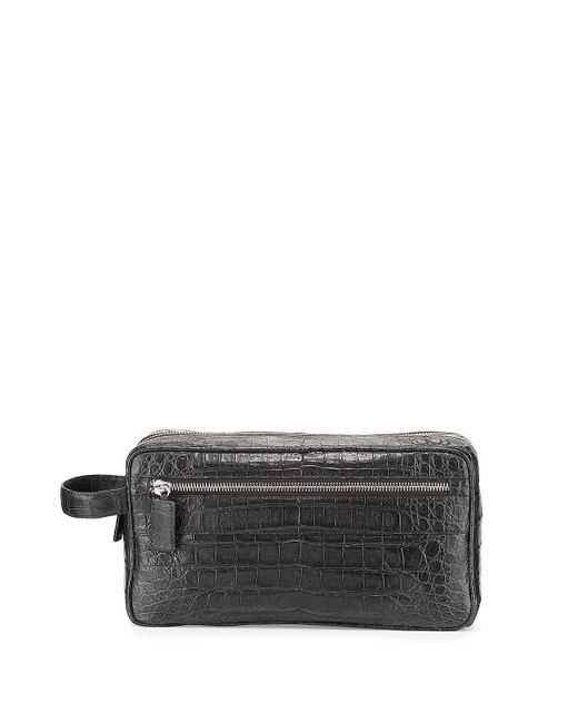 Santiago Gonzalez | Gray Crocodile Double-Zip Travel Bag | Lyst