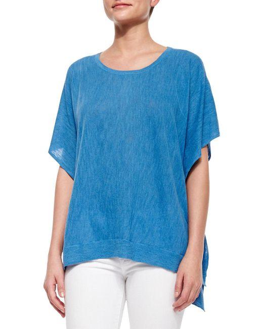Belford | Black Cold-shoulder Linen-blend Pullover | Lyst