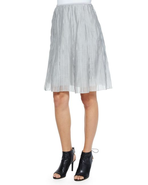NIC+ZOE | Gray Fluttery Batiste Flirt Skirt | Lyst