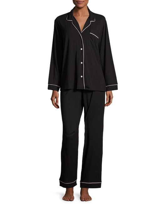 Eberjey | Black Gisele Long Pajama Set | Lyst