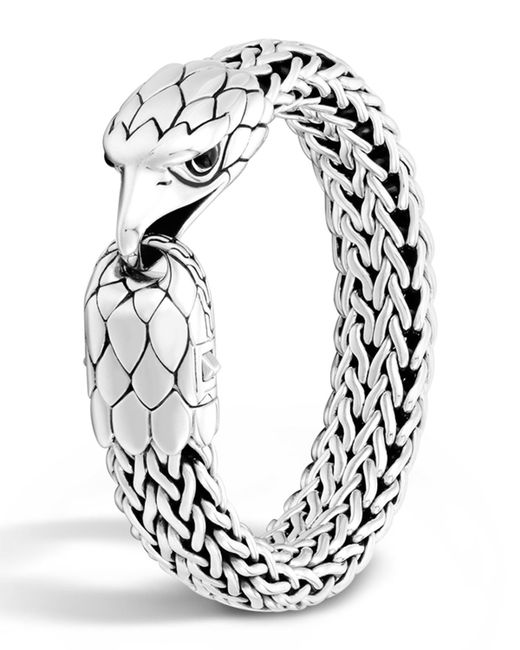 John Hardy | Metallic Men's Silver Eagle Head Chain Bracelet for Men | Lyst