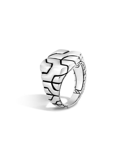 John Hardy   Metallic Woven Silver Chain Square Ring   Lyst