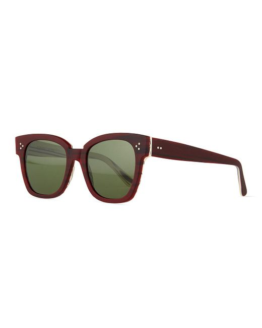 Kyme | Purple Terry Square Sunglasses | Lyst