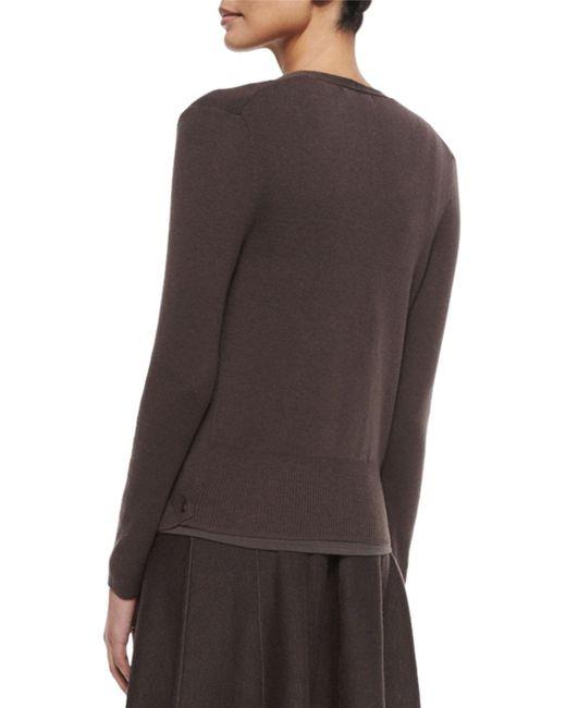 NIC+ZOE | Metallic 4-way Linen-blend Knit Cardigan | Lyst