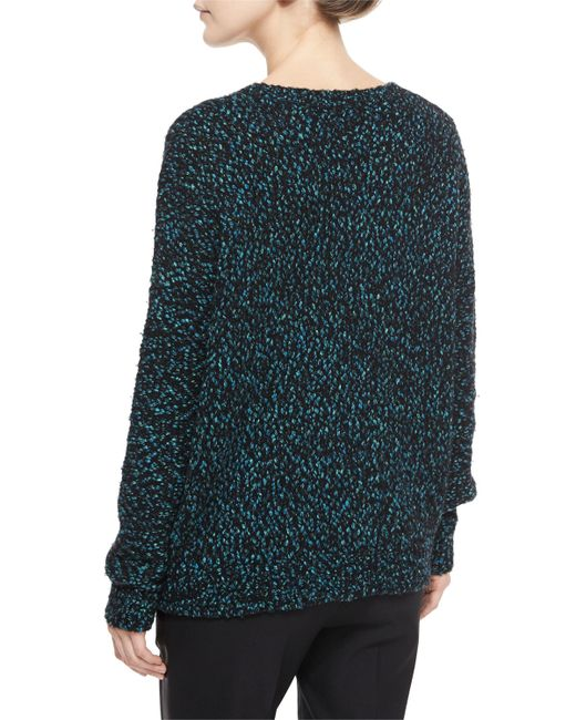 VINCE | Black Long-sleeve Boucle Sweater | Lyst