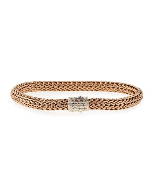 John Hardy | Metallic Medium Bronze And Silver Chain Bracelet for Men | Lyst
