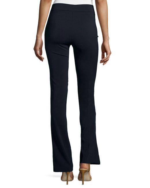 Avenue Montaigne | Blue Bellini Crepe Flare-leg Pants | Lyst