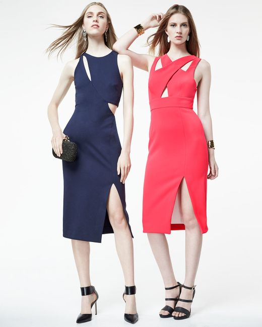 Nicholas   Blue Sleeveless Cut-Out Ponte Dress   Lyst