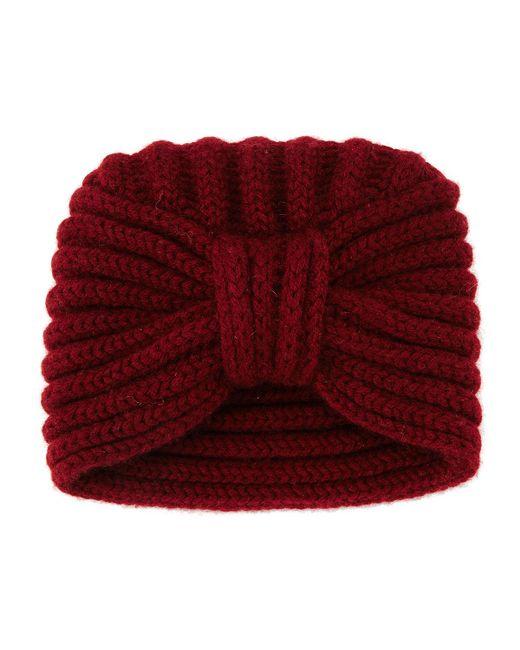 Rosie Sugden | Purple Knit Cashmere Turban Hat | Lyst