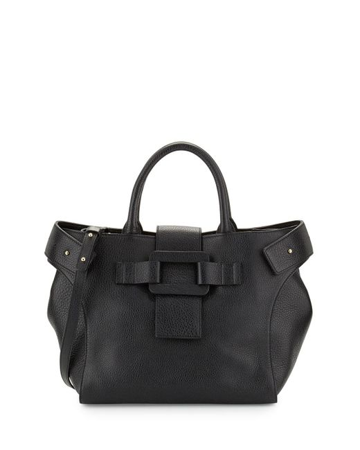 Roger Vivier | Black Pilgrim De Jour Medium Leather Shopping Tote Bag | Lyst