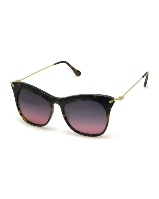 Elizabeth and James | Metallic Fairfax Sunglasses | Lyst