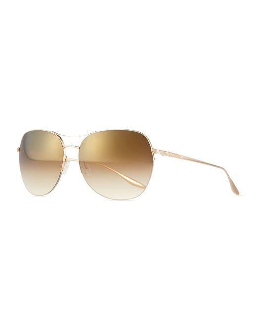 Barton Perreira | Metallic Universal Fit Quimby Butterfly Sunglasses | Lyst
