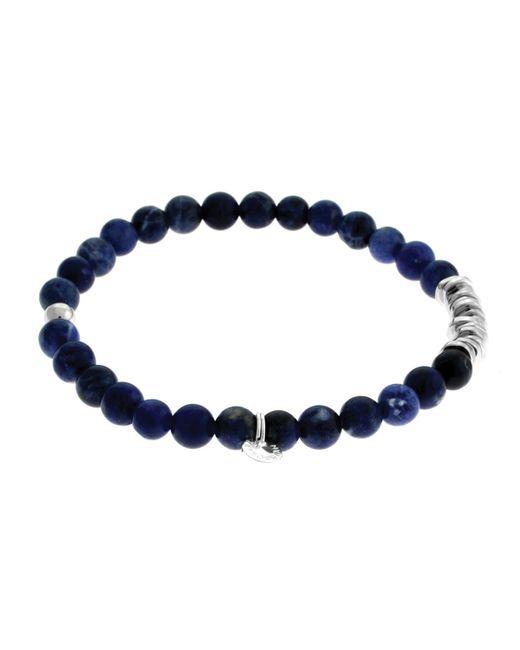 Tateossian | Metallic Men's Round Sodalite Beaded Bracelet | Lyst