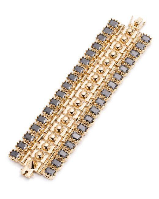 Eddie Borgo   Metallic Dome Crystal Estate Cuff Bracelet   Lyst