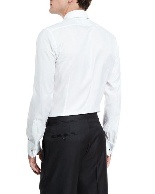 Tom ford classic french cuff slim fit dress shirt in white for White french cuff shirt slim fit