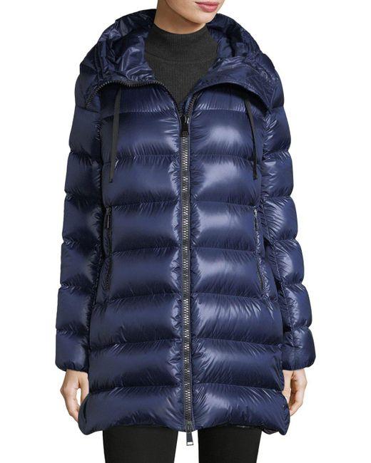 Moncler - Black Suyen Hooded Zip Coat - Lyst