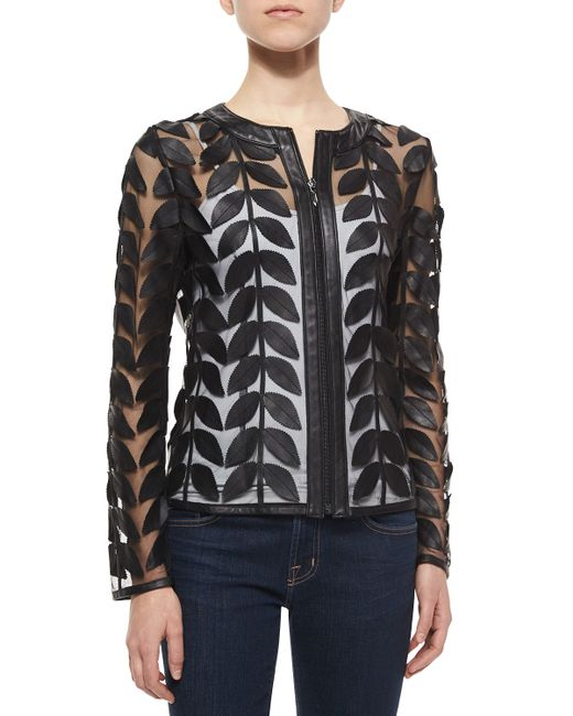 Leather Mesh Jacket 54