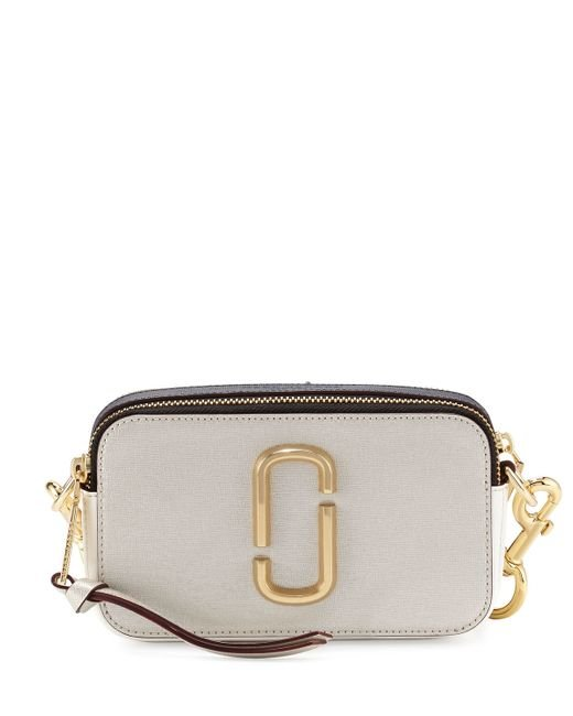 Marc jacobs Snapshot Small Leather Camera Bag in Black ...