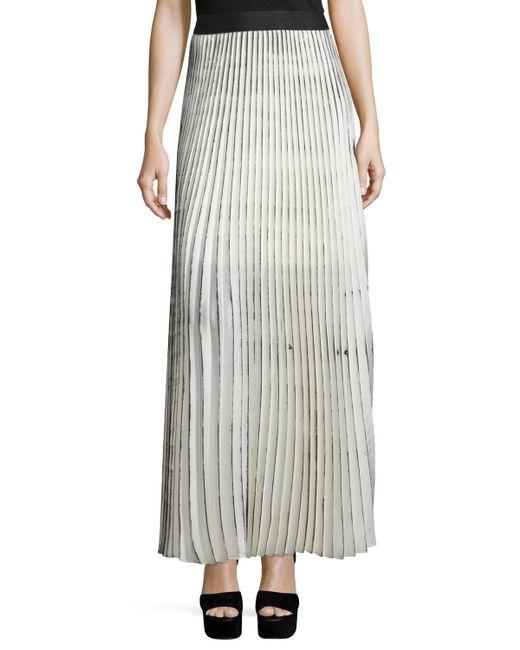 bailey 44 woolly amsonia plisse maxi skirt in white
