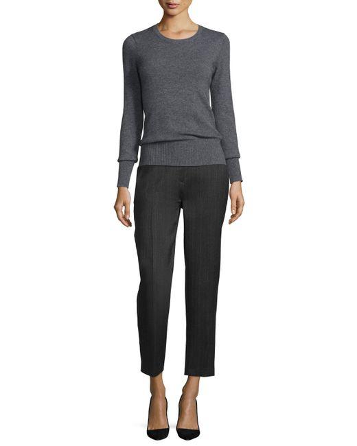 Donna Karan | Black Tailored Slim-leg Ankle Trousers | Lyst