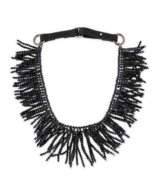 Brunello Cucinelli | Black Double-layer Fringe Choker | Lyst