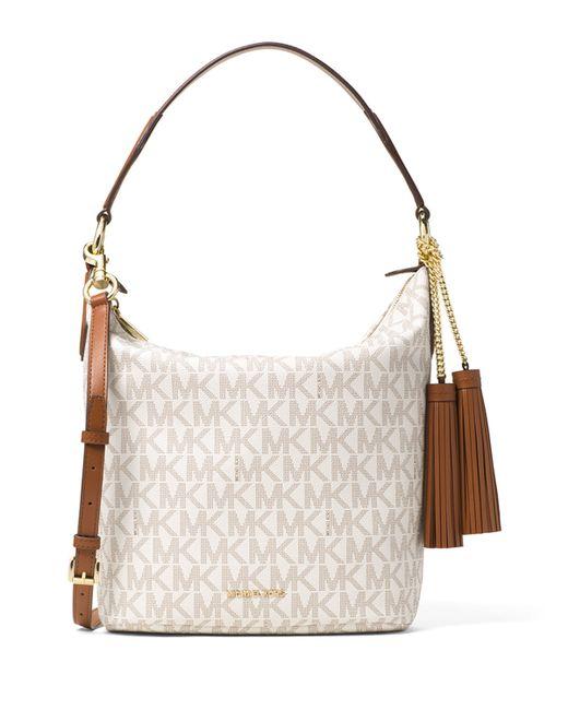 MICHAEL Michael Kors | Brown Elana Large Convertible Shoulder Bag | Lyst