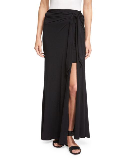 Ella Moss | Black Bella Tie-waist Maxi Skirt | Lyst