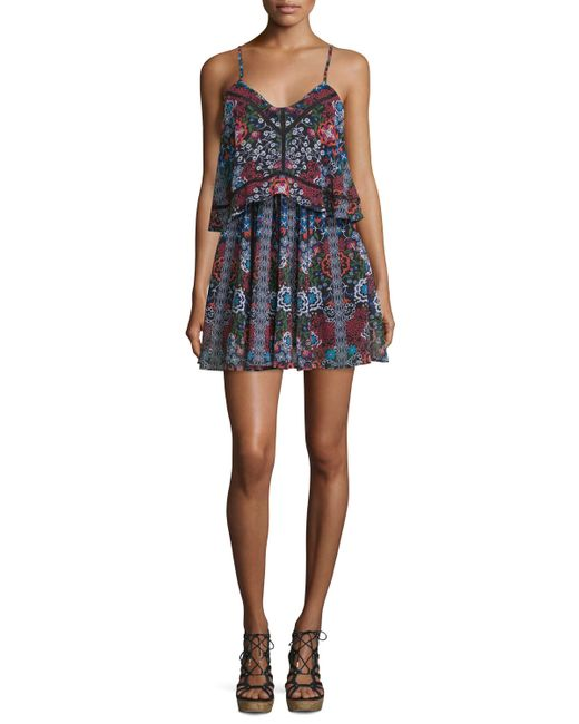Nicholas | Multicolor Sleeveless Popover Mini Dress | Lyst