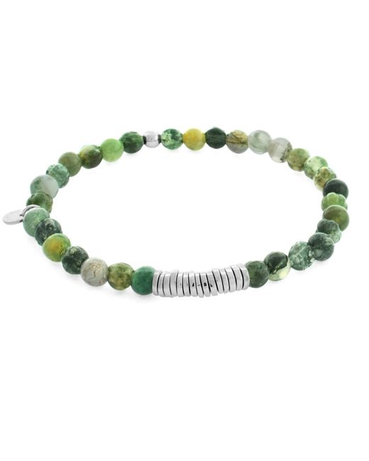 Tateossian | Green Men's Round Moss Agate Beaded Bracelet for Men | Lyst