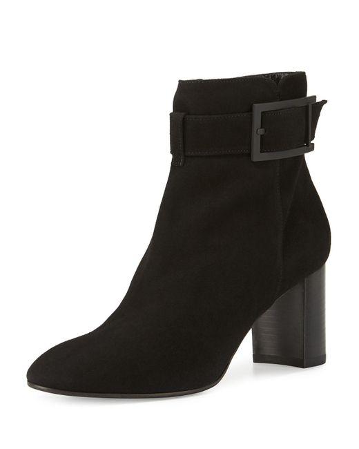 Aquatalia | Black Vanie Suede Ankle Boots | Lyst